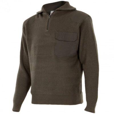 Comercial J30, jersey de punto grueso con cuello alto