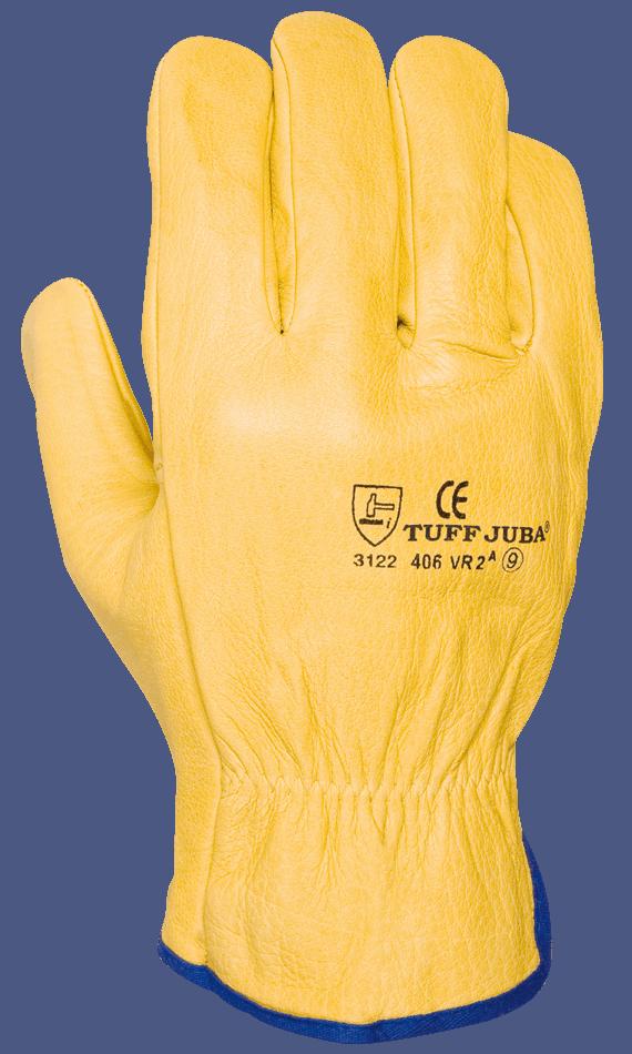 Comercial J30, Guante flor cabra amarillo