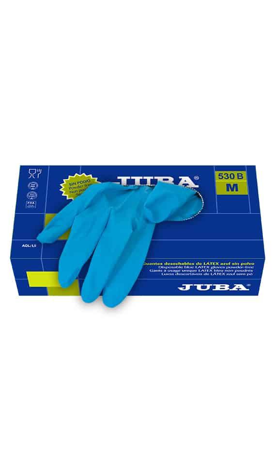 Comercial J30, Guante desechable latex azul