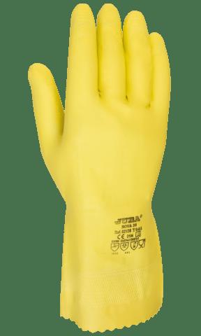 Comercial J30, guante de látex flocado